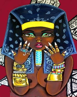 Mısırlı Güzel Yağlı Boya Sanat Kanvas Tablo