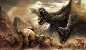 Mitolojik Savaş Bebek & Çocuk Dünyası Kanvas Tablo