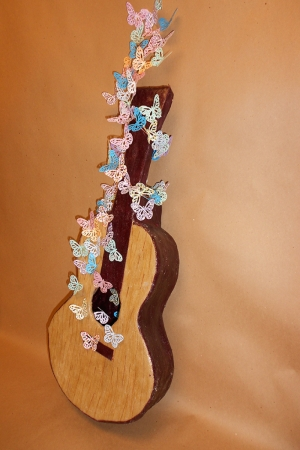 Mixed Media Gitar Abstract Kanvas Tablo