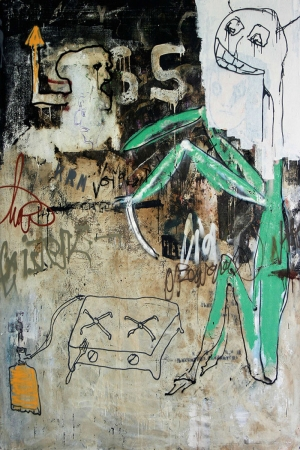 Mixed Media Soyut Abstract Sanat Kanvas Tablo
