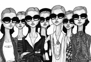 Moda İllustrasyon Popüler Kültür Kanvas Tablo