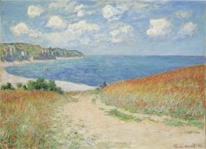 Monet Claude Road In The Wheatfields At Pourville Yağlı Boya Sanat Kanvas Tablo