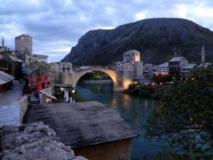 Mostar Köprüsü Bosna Hersek 2 Unesco Dünya Kültür Mirasları Kanvas Tablo