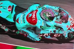 Moto GP Motorsikletler-4c Hız Motorları Kanvas Tablo