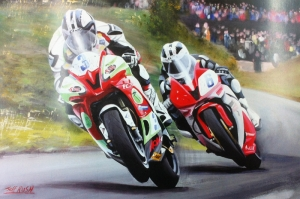 Moto GP Motorsikletler Hız Motorlar Kanvas Tablo