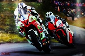 Moto GP Motorsikletler Hız Motorları-1 Kanvas Tablo