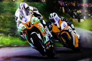 Moto GP Motorsikletler Hız Motorları-1b Kanvas Tablo