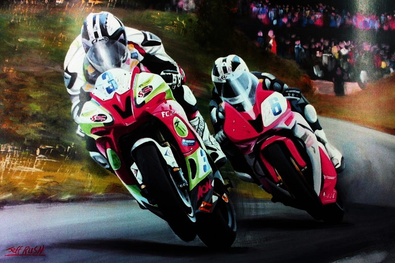 Moto GP Motorsikletler Hız Motorları-1c Kanvas Tablo