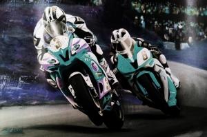 Moto GP Motorsikletler Hız Motorları-1e Kanvas Tablo