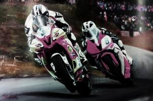 Moto GP Motorsikletler Hız Motorları-1f Kanvas Tablo