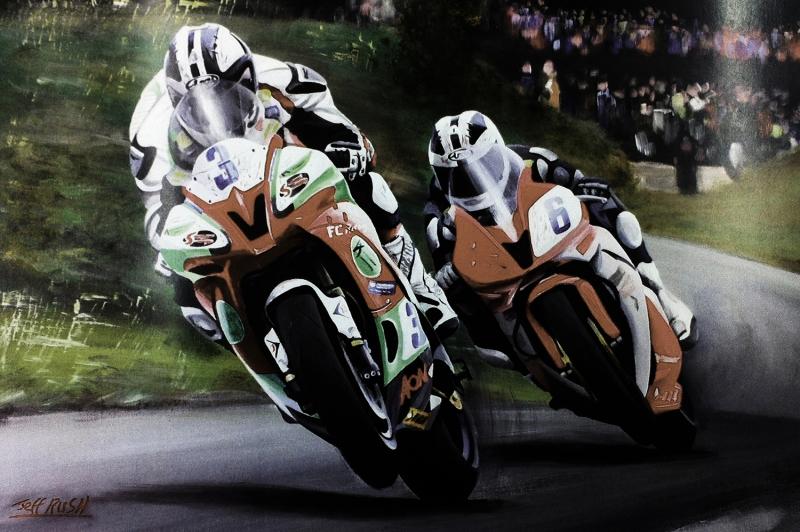 Moto GP Motorsikletler Hız Motorları-1g Kanvas Tablo