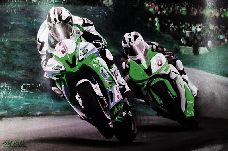 Moto GP Motorsikletler Hız Motorları-1h Kanvas Tablo