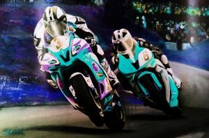 Moto GP Motorsikletler Hız Motorları-1d Kanvas Tablo