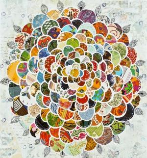 Mozaik Floral Sanat Kanvas Tablo