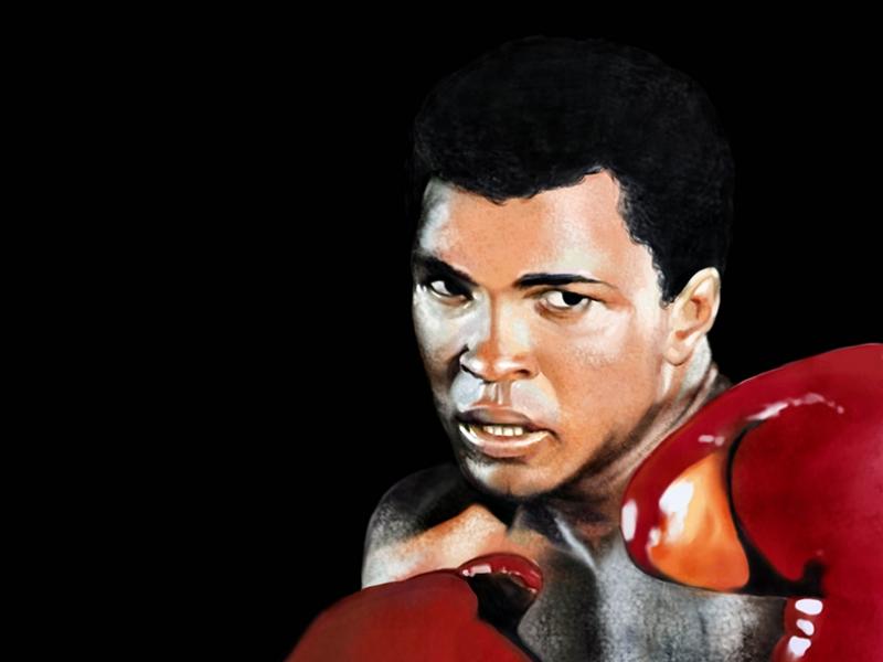 Muhammed Ali Boks-2 Kanvas Tablo
