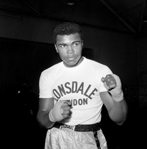 Muhammed Ali Boks-6 Siyah Beyaz Kanvas Tablo
