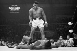 Muhammed Ali Boks-7 Nakavt 25 Mayıs 1965 Kanvas Tablo