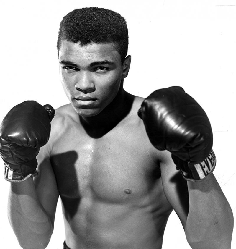 Muhammed Ali Boks-8 Siyah Beyaz Kanvas Tablo