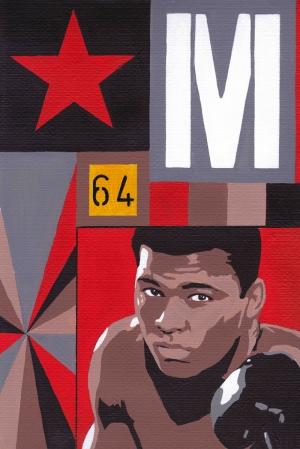 Muhammed Ali Poster Popüler Kültür Kanvas Tablo