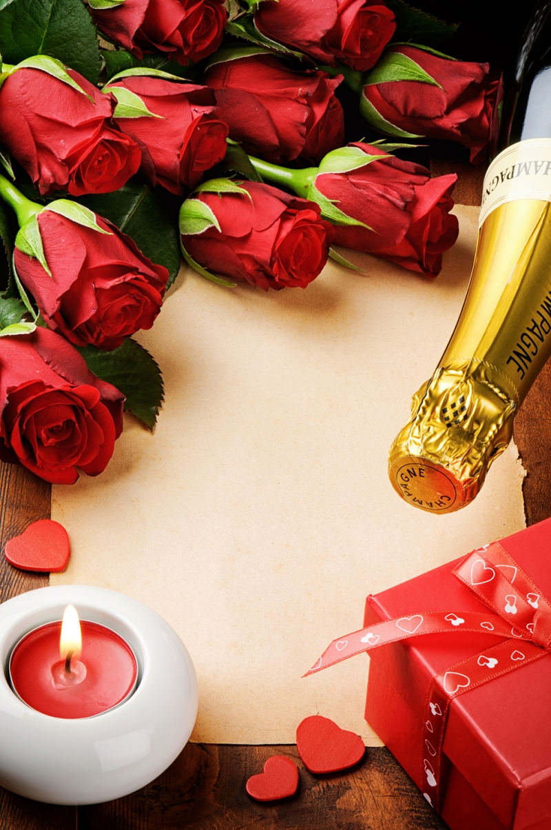 Mum Işığında Kutlama Aşk & Sevgi Kanvas Tablo