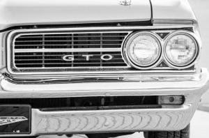 Muscle Klasik Otomobil Siyah Beyaz Fotoğraf Kanvas Tablo