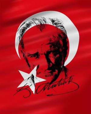 Mustafa Kemal Atatürk İmza Kanvas Tablo