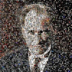 Mustafa Kemal Atatürk Mozaik Kanvas Tablo