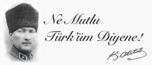 Mustafa Kemal Atatürk Ne Mutlu Türküm Diyene Poster Kanvas Tablo