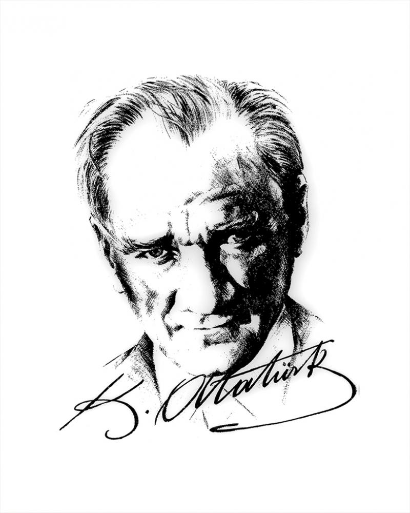 Mustafa Kemal Atatürk Portre-5 Kanvas Tablo