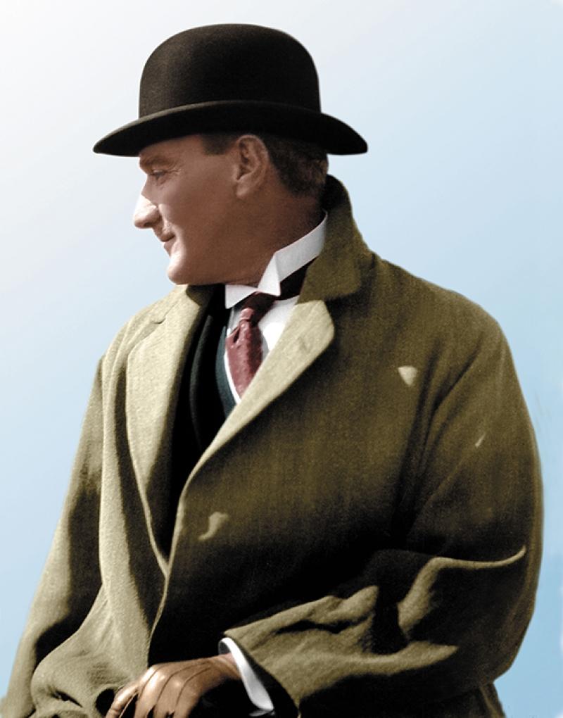 Mustafa Kemal Atatürk Portre Şapka Kanvas Tablo