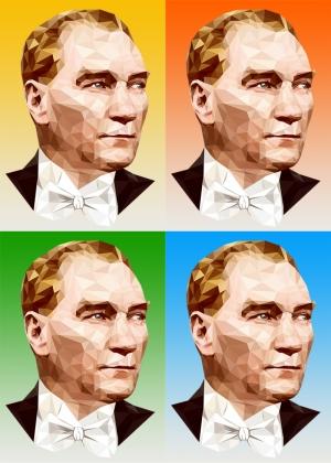 Mustafa Kemal Atatürk Poster Popüler Kültür Kanvas Tablo