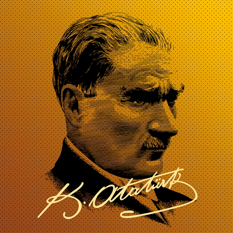Mustafa Kemal Pop Atatürk Unique Kanvas Tablo 2