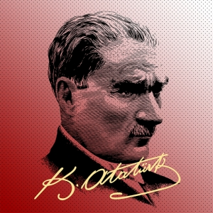 Mustafa Kemal Pop Atatürk Unique Kanvas Tablo 5