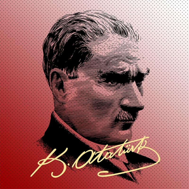 Mustafa Kemal Pop Atatürk Unique Kanvas Tablo 5