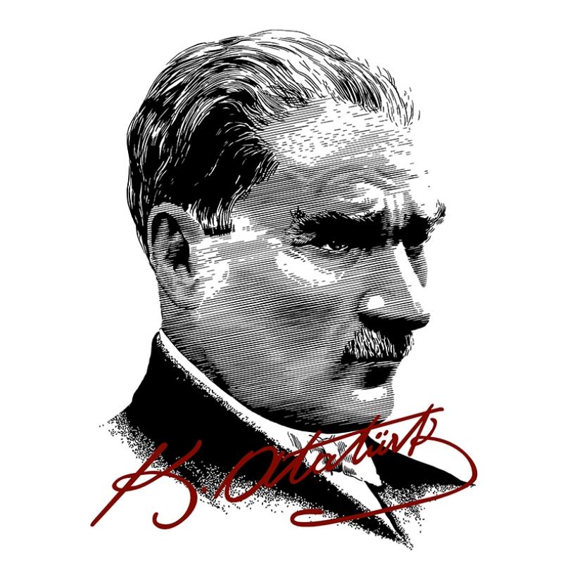 Mustafa Kemal Pop Atatürk Unique Kanvas Tablo 6