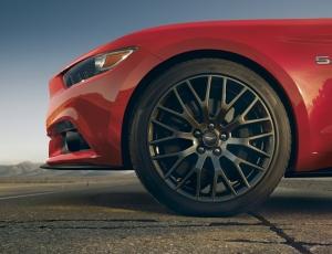 Mustang Spor Otomobil Kırmızı Kanvas Tablo