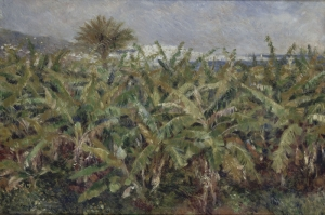 Muz Ağaçlari Tarlası, Pierre August Renoir Field Of Banana Trees Klasik Sanat Kanvas Tablo