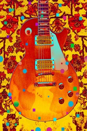 Müzik Aletleri 1 Gitar İç Mekan Dekoratif Kanvas Tablo