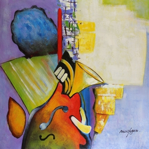 Müzik Aletleri 11, Trompet Dekoratif Canvas Tablo