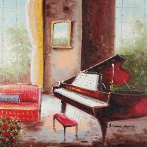 Müzik Aletleri 12, Piyano Dekoratif Canvas Tablo