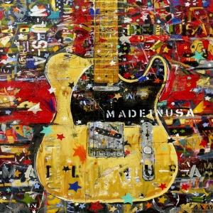 Müzik Aletleri 2, Gitar Dekoratif Kanvas Tablo