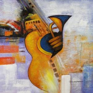 Müzik Aletleri 3, Gitar Dekoratif Kanvas Tablo