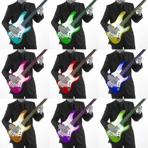 Müzik Gitar Renk Popüler Kültür Kanvas Tablo