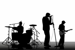Müzik Grubu İlistrasyon Dijital Fantastik Kanvas Tablo