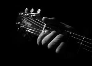 Müzik Siyah Beyaz Fotoğraf Kanvas Tablo