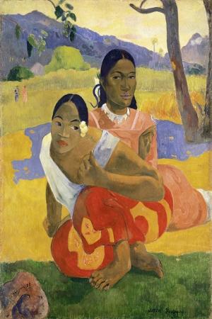 Nafea Faaipoipo-1892 Paul Gauguin Reproduksiyon Kanvas Tablo