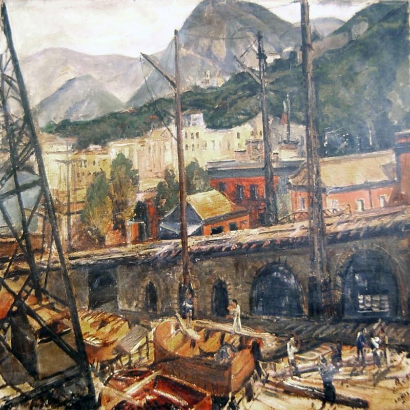 Napoli Sahil Kayiklar 1 Yagli Boya Sanat Kanvas Tablo