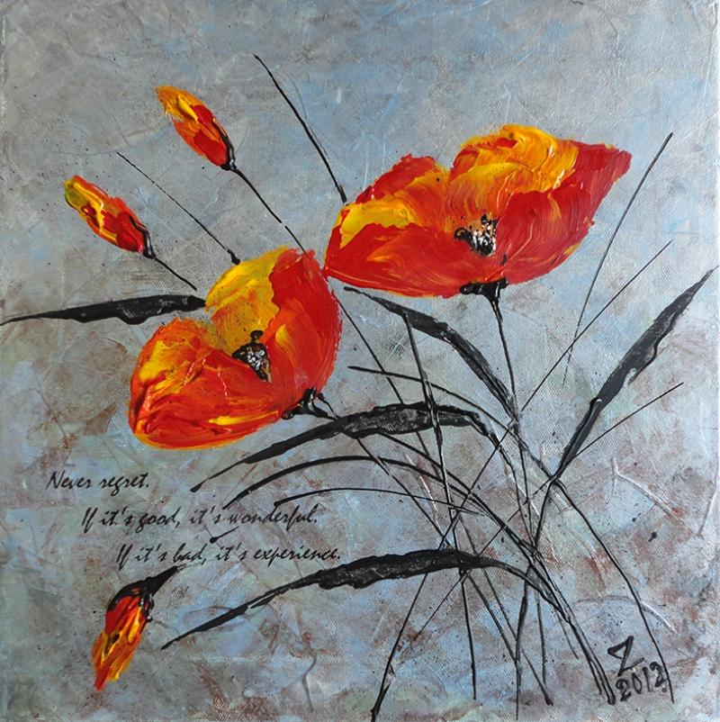 Nature Morte Floral 2 Yağlı Boya Sanat Kanvas Tablo