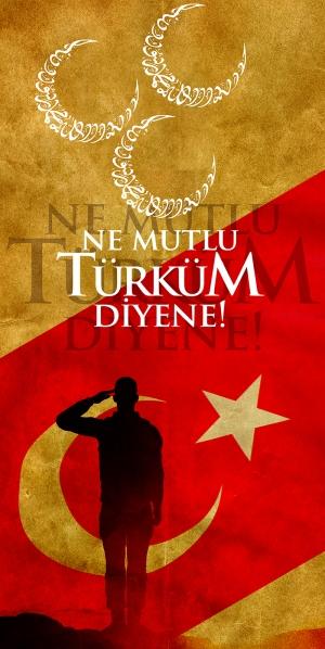 Ne Mutlu Türküm Diyene, Türk Askeri-3 Milliyetci Kanvas Tablo