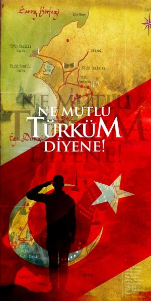 Ne Mutlu Türküm Diyene Türk Askeri Çanakkale Milliyetci Kanvas Tablo